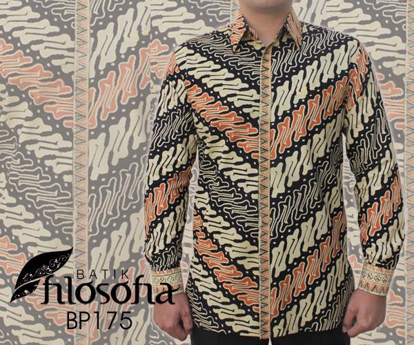 Kemeja Batik Cap Pria 175