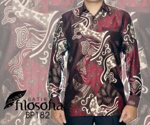 Batik Pria Bahan Semi Sutra 182