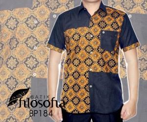 Kemeja Batik Kombinasi Jeans 184