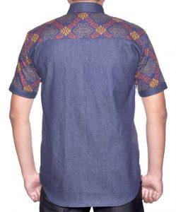 Batik Printing Kombinasi Denim 193