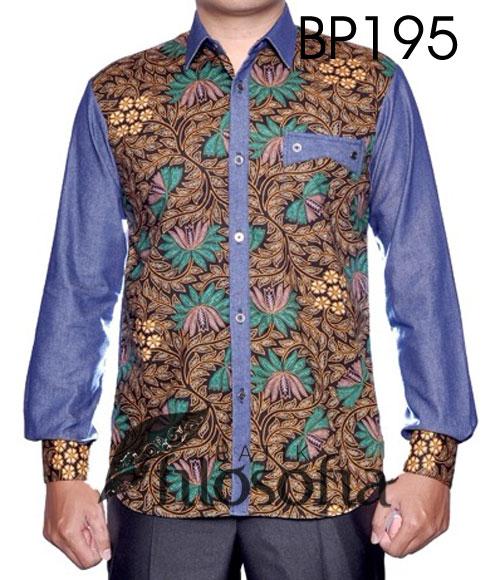 Batik Elegan Kombinasi Denim 195