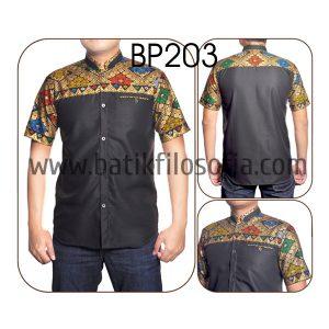 Kemeja Batik Koko Katun 203