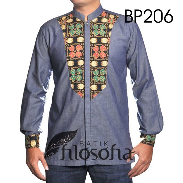 Batik Koko Kombinasi Denim 206