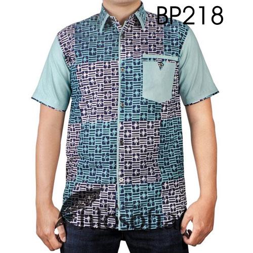Kemeja Batik Cap Katun 218