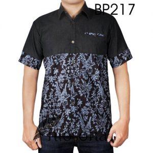 Kemeja Batik Kombinasi Denim 217