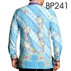 Baju Batik Warna Biru Muda 241