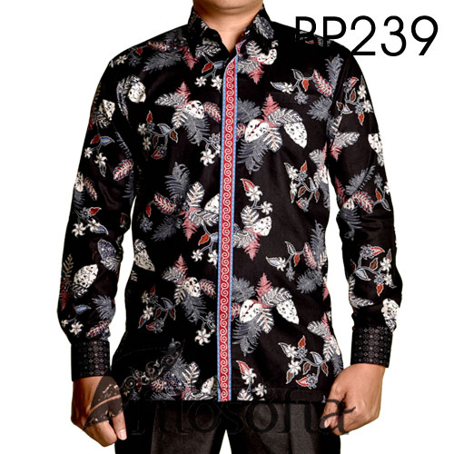 Kemeja Batik Motif Daun 239