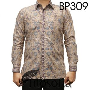 Baju Batik Warna Krem