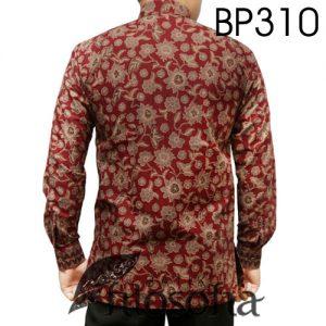 Hem Batik Warna Merah