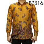 Baju Batik Warna Kuning Elegan