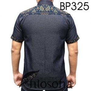 Batik Modern Kombinasi Denim