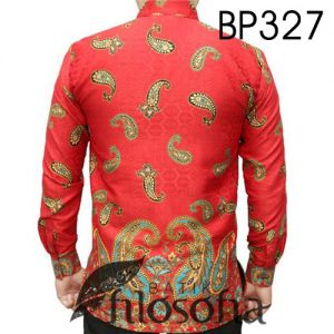 Kemeja Batik Warna Merah