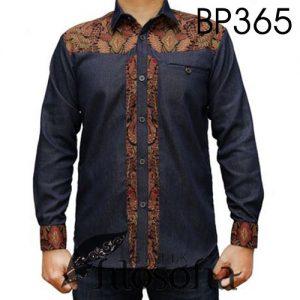 Batik Pria Kombinasi Denim