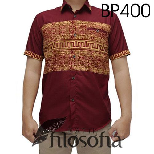 Kemeja Batik Kombinasi Katun