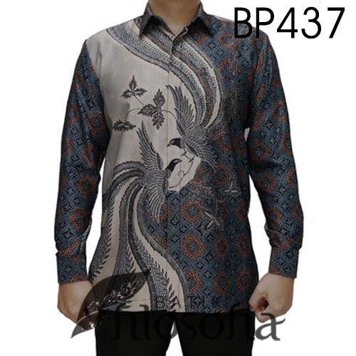 Baju Batik Pria Semi Sutra