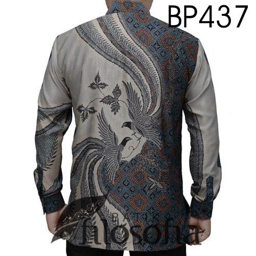 Gambar Baju Batik Pria Semi Sutra