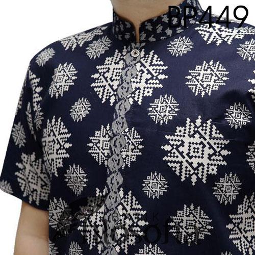 Picture Baju Batik Pria Lengan Pendek