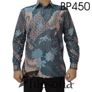 Kemeja Batik Abu