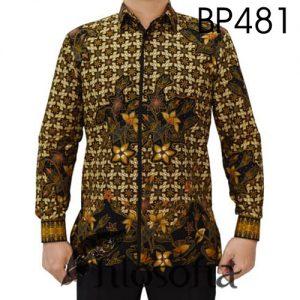 Batik Pria Motif Bunga