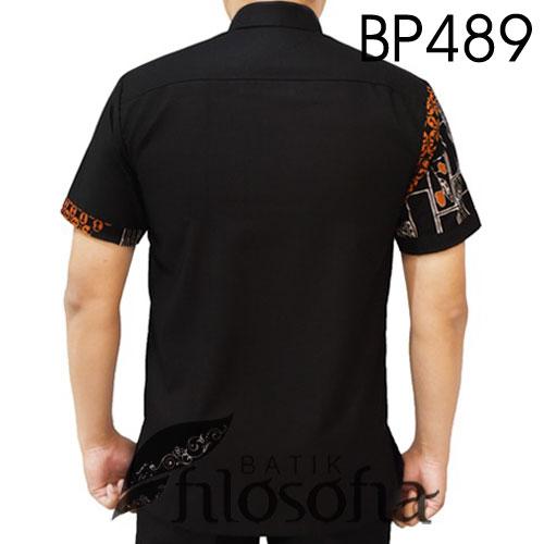 Gambar Baju Batik Pendek Kombinasi