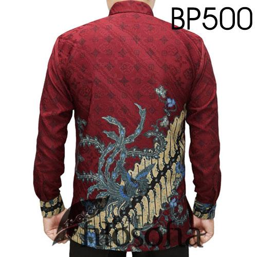 Gambar Batik Pria Merah Ati