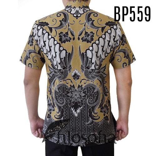 Gambar Batik Pria Resmi Lengan Pendek