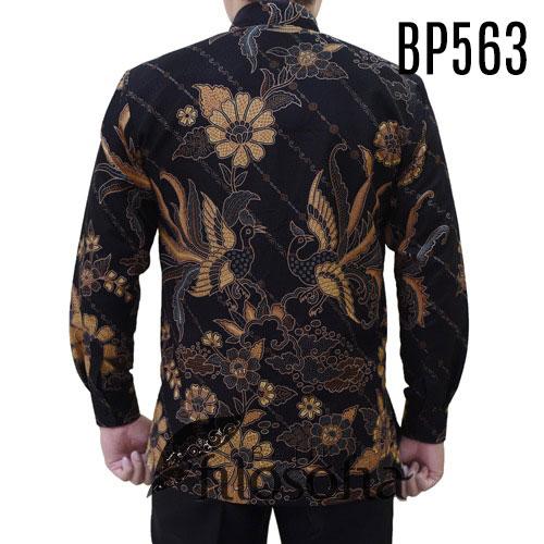 Gambar Batik Pria Warna Gelap
