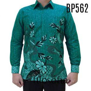 Kemeja Batik Warna Hijau