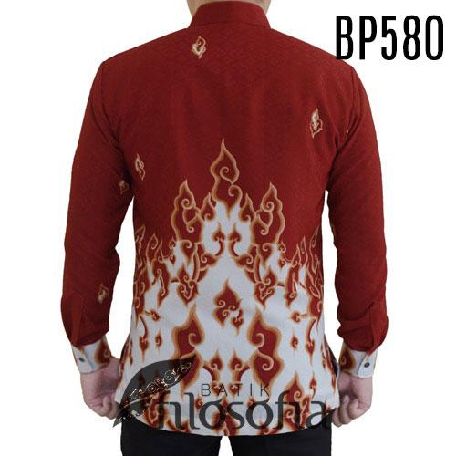 Gambar Kemeja Batik Merah Putih