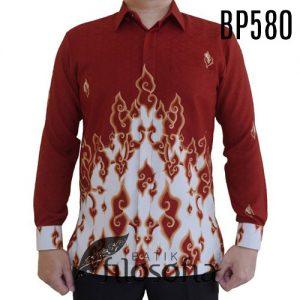 Kemeja Batik Merah Putih