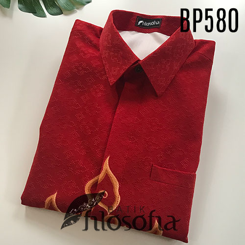 Pictures Kemeja Batik Merah Putih