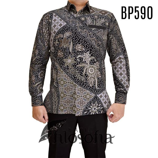 kemeja batik pria kode 590