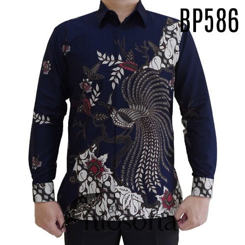 Batik Warna Biru Dongker