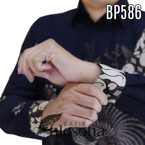 Gambar Batik Warna Biru Dongker