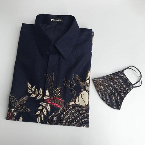 Images Batik Warna Biru Dongker