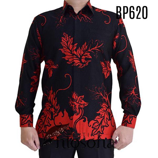 Baju Batik Hitam Pria