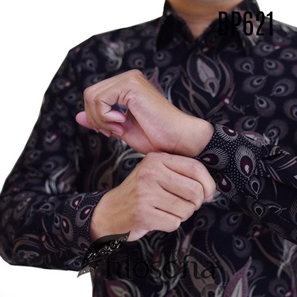 Gambar Baju Batik Bunga Simple