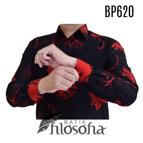 Gambar Baju Batik Hitam Pria