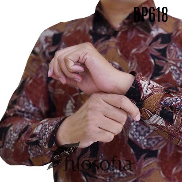 Gambar Kemeja Batik Lelaki Lengan Panjang