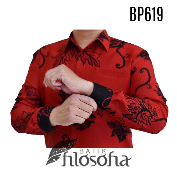 Gambar Kemeja Batik Merah Pria