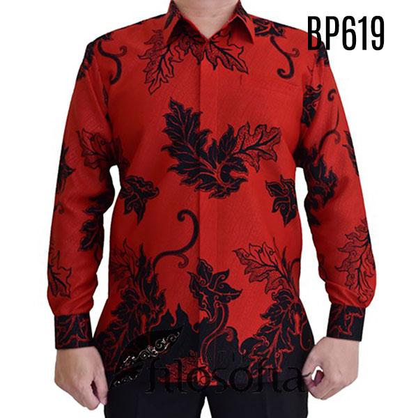 Kemeja Batik Merah Pria