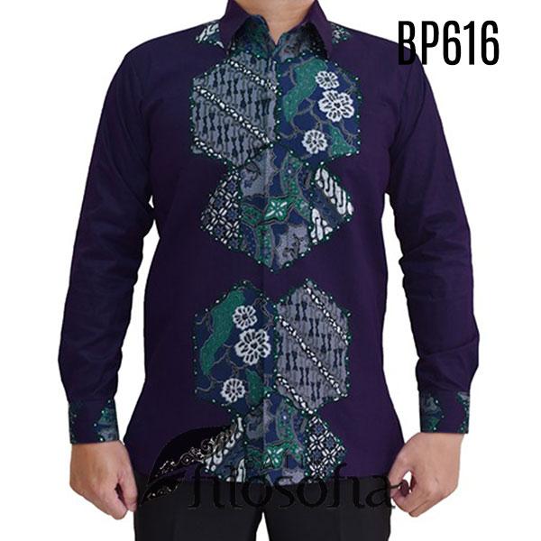 Kemeja Batik Warna Ungu